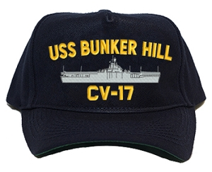 USS Bunker Hill CV-17 Navy Ship Hats
