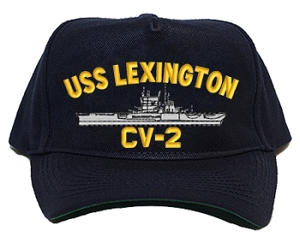 USS Lexington CV-2 Navy Ship Hats