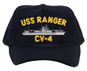 USS Ranger CV-4 Navy Ship Hats