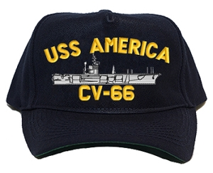 USS America CVA-66, CV-66 Navy Ship Hats