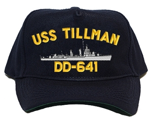 USS Tillman DD-641 Navy Ship Hats