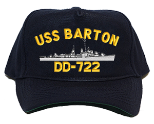 USS Barton DD-722 Navy Ship Hats