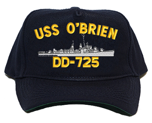 USS O'Brien DD-725 Navy Ship Hats
