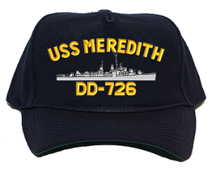 USS Meredith DD-726 Navy Ship Hats