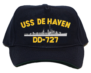 USS De Haven DD-727 Navy Ship Hats