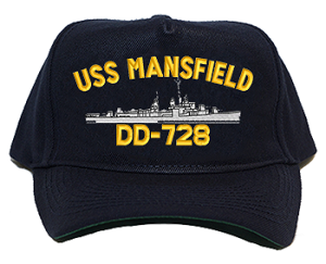 USS Mansfield DD-728 Navy Ship Hats