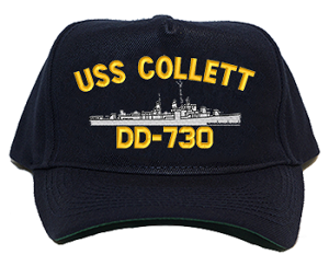 USS Collett DD-730 Navy Ship Hats