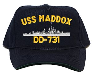 USS Maddox DD-731 Navy Ship Hats