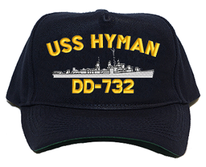USS Hyman DD-732 Navy Ship Hats