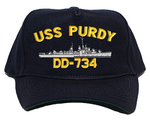 USS Purdy DD-734 Navy Ship Hats