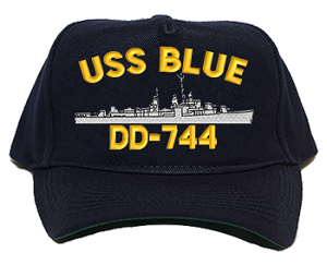 USS Blue DD-744 Navy Ship Hats