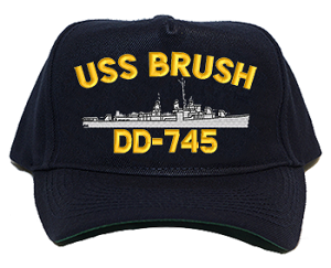 USS Brush DD-745 Navy Ship Hats