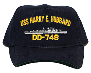 USS Harry E. Hubbard DD-748 Navy Ship Hats