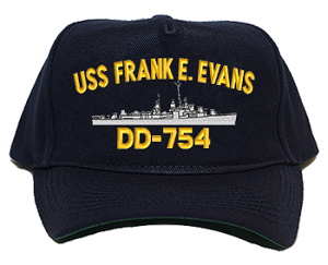 USS Frank E. Evans DD-754 Navy Ship Hats