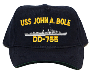 USS John A. Bole DD-755 Navy Ship Hats