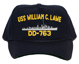 USS William C. Lawe DD-763 Navy Ship Hats