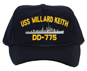 USS Willard Keith DD-775 Navy Ship Hats