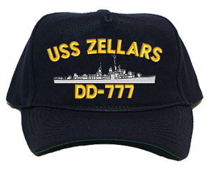 USS Zellars DD-777 Navy Ship Hats