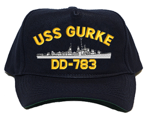 USS Gurke DD-783 Navy Ship Hats