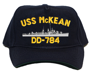 USS McKean DD-784 Navy Ship Hats