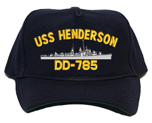 USS Henderson DD-785 Navy Ship Hats