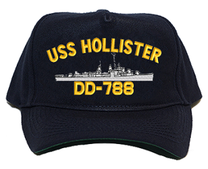 USS Hollister DD-788 Navy Ship Hats