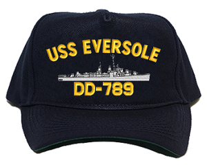 USS Eversole DD-789 Navy Ship Hats