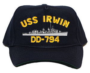 USS Irwin DD-794 Navy Ship Hats