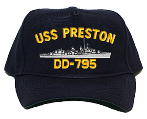USS Preston DD-795 Navy Ship Hats