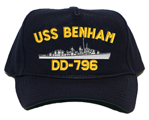 USS Benham DD-796 Navy Ship Hats