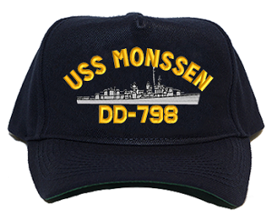 USS Monssen DD-798 Navy Ship Hats