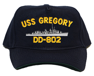 USS Gregory DD-802 Navy Ship Hats
