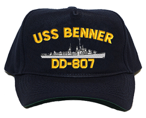 USS Benner DD/DDR-807 Navy Ship Hats