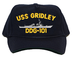 USS Gridely DDG-101 Navy Ship Hats