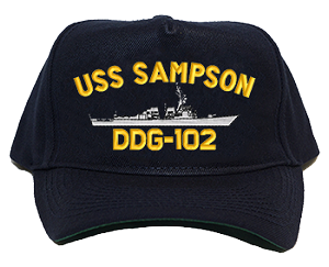 USS Sampson DDG-102 Navy Ship Hats