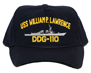 USS William P. Lawrence DDG-110 Navy Ship Hats