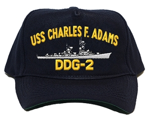 USS Charles F. Adams DDG-2 Navy Ship Hats