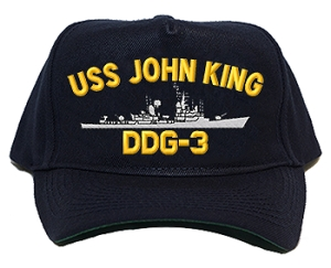 USS John King DDG-3 Navy Ship Hats