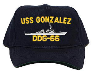 USS Gonzalez DDG-66 Navy Ship Hats