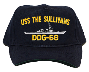 USS The Sullivans DDG-68 Navy Ship Hats
