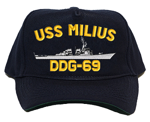 USS Milius DDG-69 Navy Ship Hats