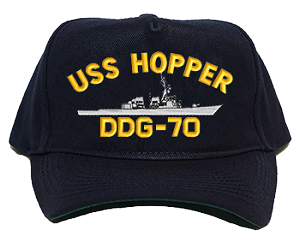 USS Hopper DDG-70 Navy Ship Hats
