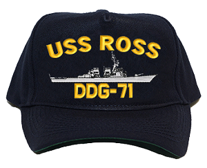 USS Ross DDG-71 Navy Ship Hats