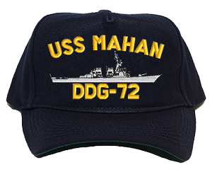 USS Mahan DDG-72 Navy Ship Hats