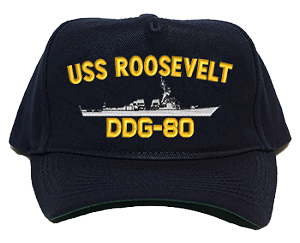USS Roosevelt DDG-80 Navy Ship Hats