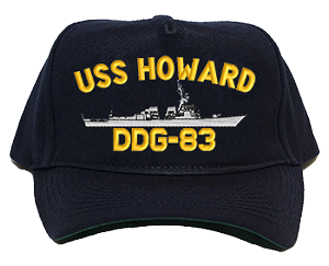 USS Howard DDG-83 Navy Ship Hats