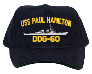 USS Paul Hamilton DDG-60 Navy Ship Hats