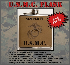 U.S. Marine Corps Flask - Custom Engraved