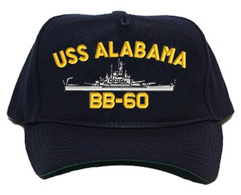 USS Alabama BB-60 Navy Ship Hats