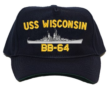 USS Wisconsin BB-64 Navy Ship Hats